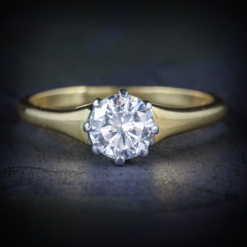 ANTIQUE VICTORIAN DIAMOND ENGAGEMENT RING CIRCA 1900 18CT GOLD 0.70CT COVER