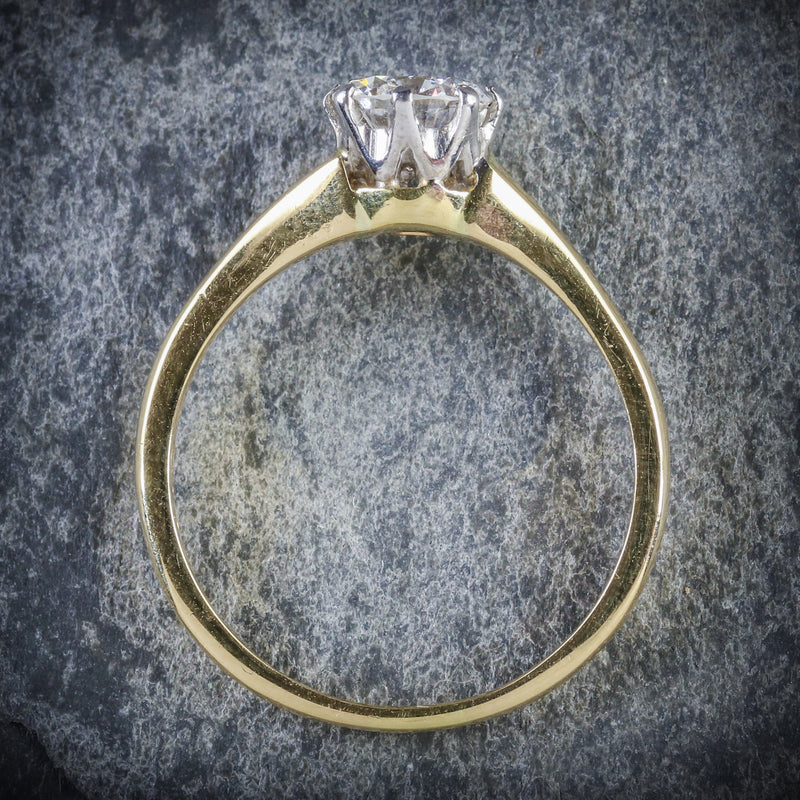 ANTIQUE VICTORIAN DIAMOND ENGAGEMENT RING CIRCA 1900 18CT GOLD 0.70CT TOP