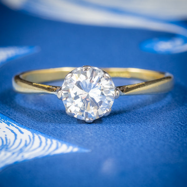 Antique Victorian Diamond Solitaire Engagement Ring 18ct Gold Circa 1900 cover