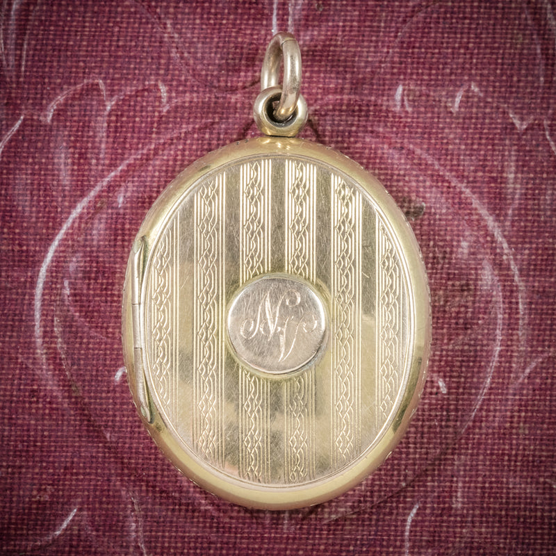 Antique Victorian Gold Family Locket Circa 1900 COVER
