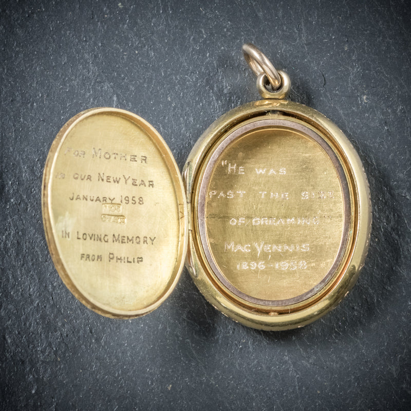 Antique Victorian Gold Family Locket Circa 1900 OPEN