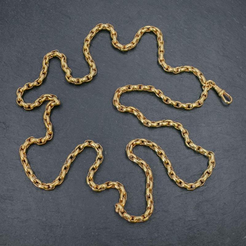 ANTIQUE VICTORIAN GUARD CHAIN 18CT GOLD ON SILVER CIRCA 1880 TOP
