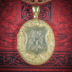 Antique Victorian Fruit Locket 18ct Gold Silver Circa 1880 COVER