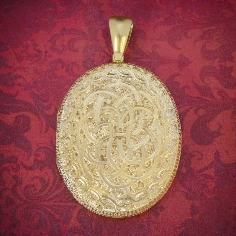 ANTIQUE VICTORIAN LOCKET SILVER GOLD GILT FORGET ME NOT CIRCA 1880 cover