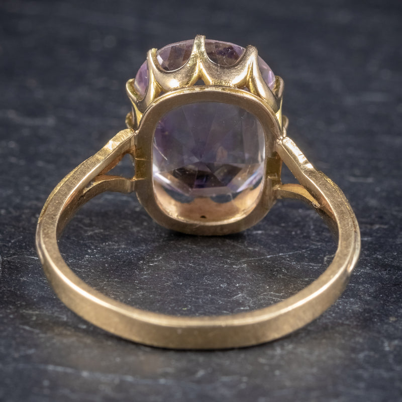 Antique Victorian Purple Spinel Ring 18ct Gold 5ct Spinel Circa 1900 BACK