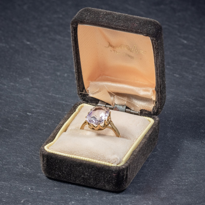 Antique Victorian Purple Spinel Ring 18ct Gold 5ct Spinel Circa 1900 BOX