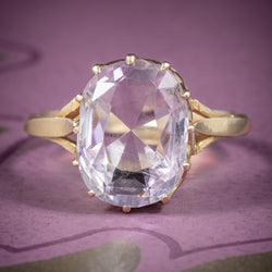 Antique Victorian Purple Spinel Ring 18ct Gold 5ct Spinel Circa 1900 COVER
