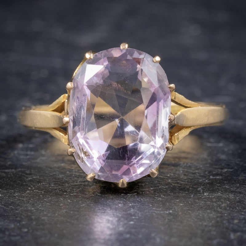 Antique Victorian Purple Spinel Ring 18ct Gold 5ct Spinel Circa 1900 FRONT