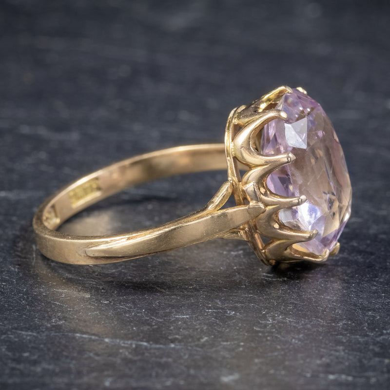 Antique Victorian Purple Spinel Ring 18ct Gold 5ct Spinel Circa 1900 SIDE2