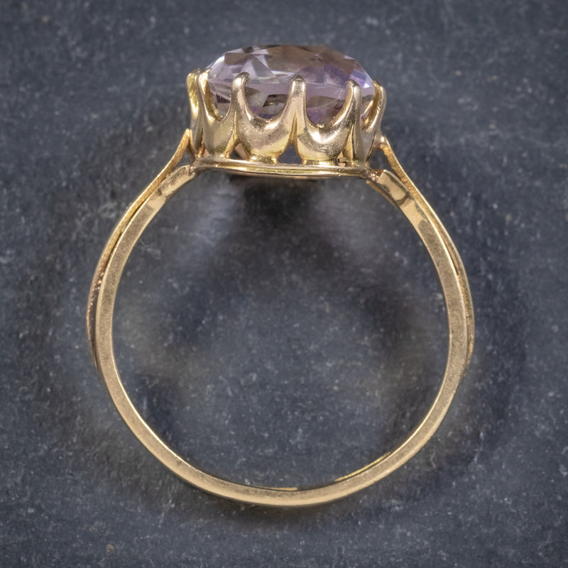Antique Victorian Purple Spinel Ring 18ct Gold 5ct Spinel Circa 1900 TOP