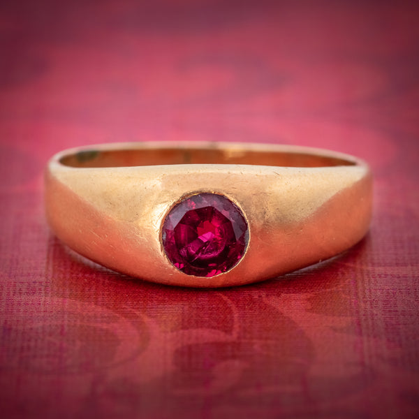 Antique Victorian Ruby Ring 18ct Gold 0.60ct Ruby Circa 1900 cover