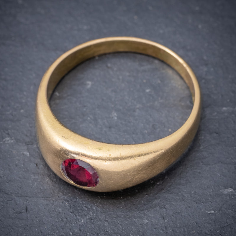 Antique Victorian Ruby Ring 18ct Gold 0.60ct Ruby Circa 1900 TOP