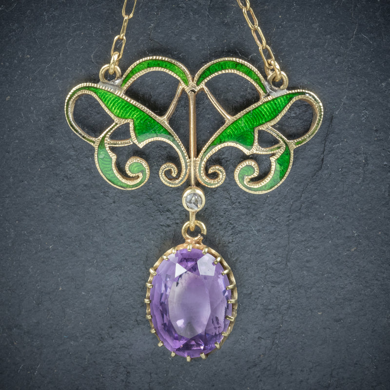 Antique Victorian Suffragette Pendant Necklace Amethyst Circa 1900 PENDANT