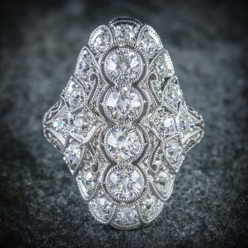 ART DECO DIAMOND RING PLATINUM CIRCA 1920 FRONT