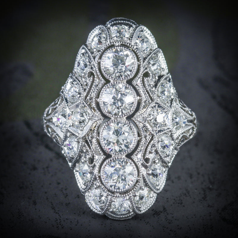 ART DECO DIAMOND RING PLATINUM CIRCA 1920 COVER