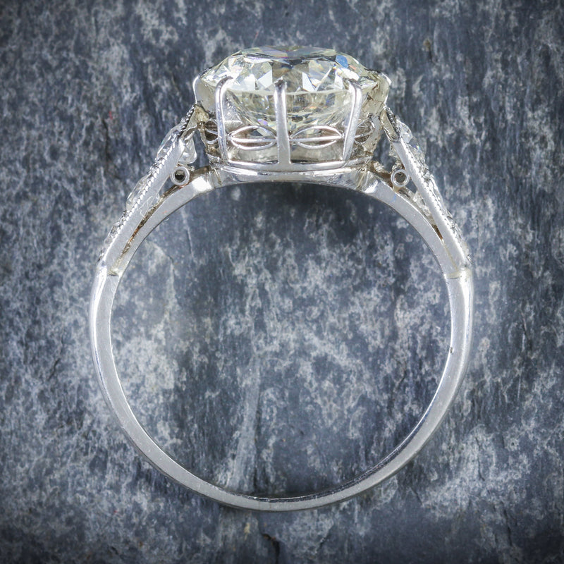 ART DECO DIAMOND SOLITAIRE RING PLATINUM ENGAGEMENT RING CIRCA 1920 TOP