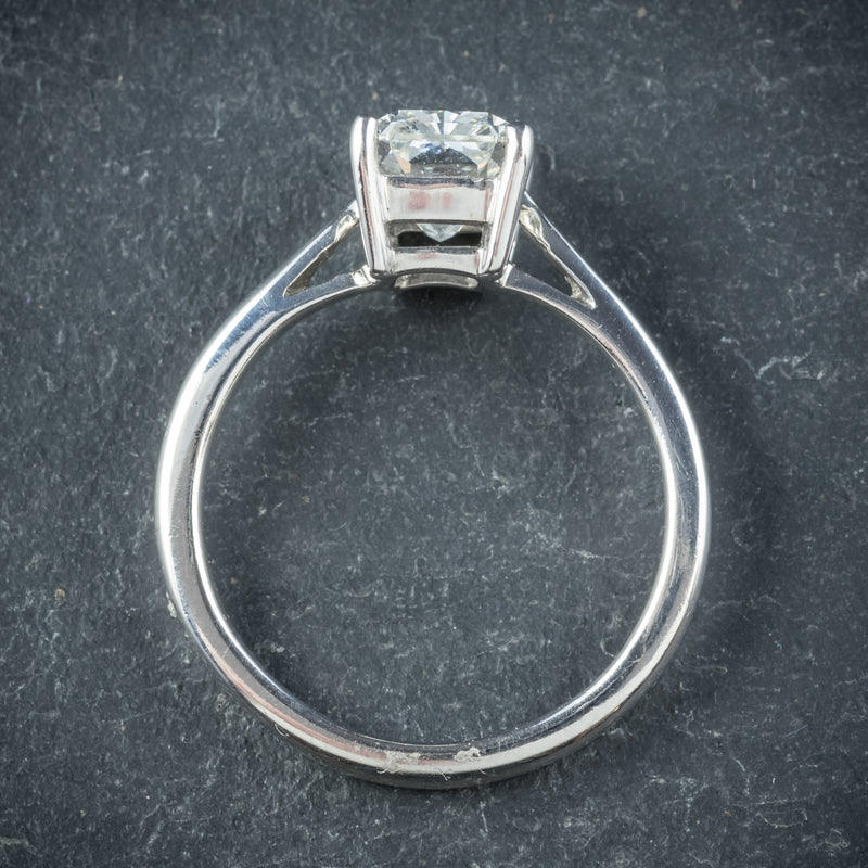 Art Deco Princess Cut Diamond Ring 18ct White Gold Circa 1930 TOP