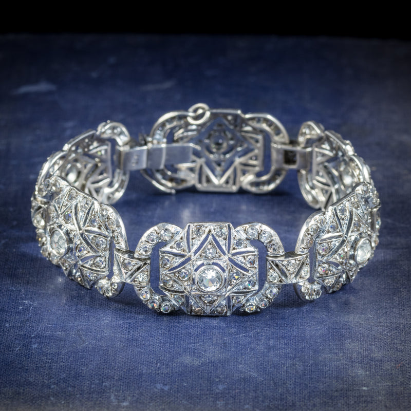 Art Deco Silver Paste Bracelet Circa 1925 COVER