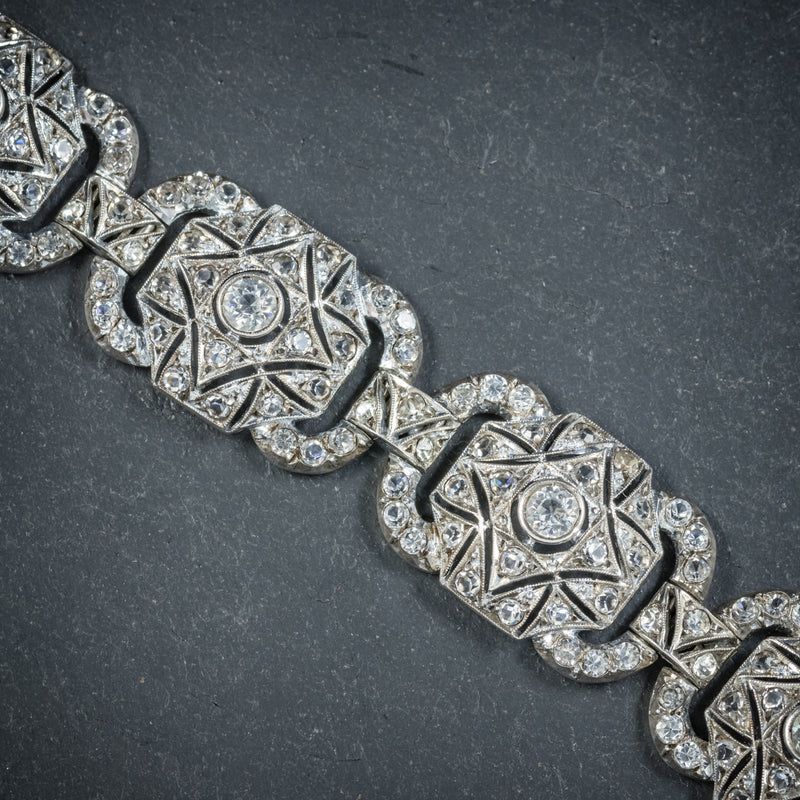 Art Deco Silver Paste Bracelet Circa 1925 LINKS