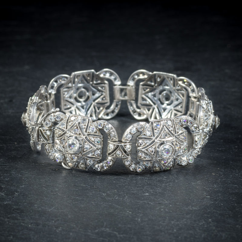 Art Deco Silver Paste Bracelet Circa 1925 SIDE