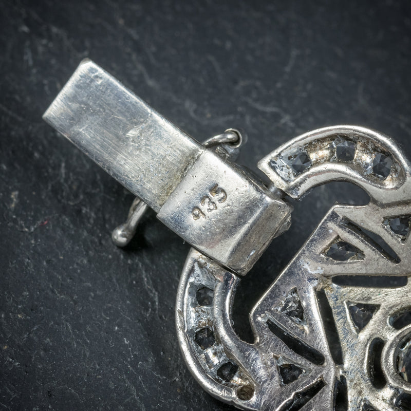 Art Deco Silver Paste Bracelet Circa 1925 STAMP