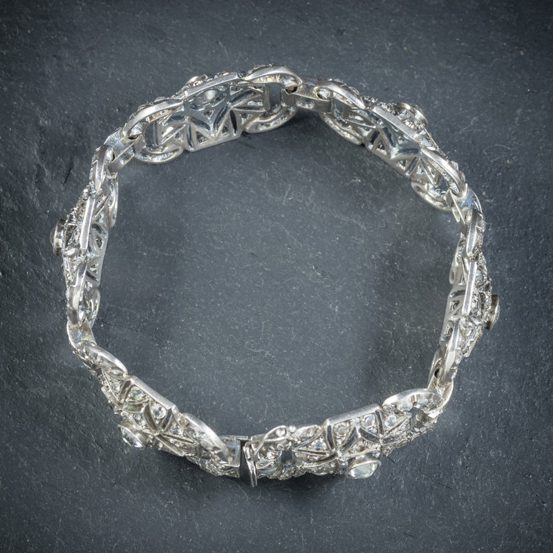 Art Deco Silver Paste Bracelet Circa 1925 TOP