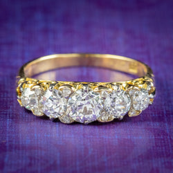 Antique Edwardian Old Cut Diamond Ring 18ct Gold Platinum 2ct Of Diamond Circa 1901