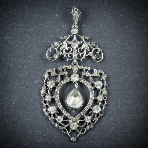 Antique Georgian Paste Stone Pendant Circa 1780 FRONT