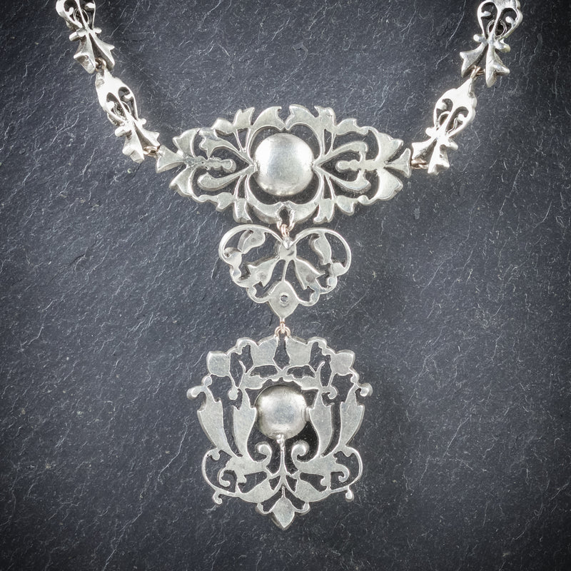 Antique Georgian Silver Paste Necklace Circa 1800 BACK