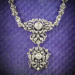 Antique Georgian Silver Paste Necklace Circa 1800 COVER
