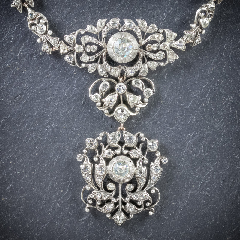Antique Georgian Silver Paste Necklace Circa 1800 PENDANT