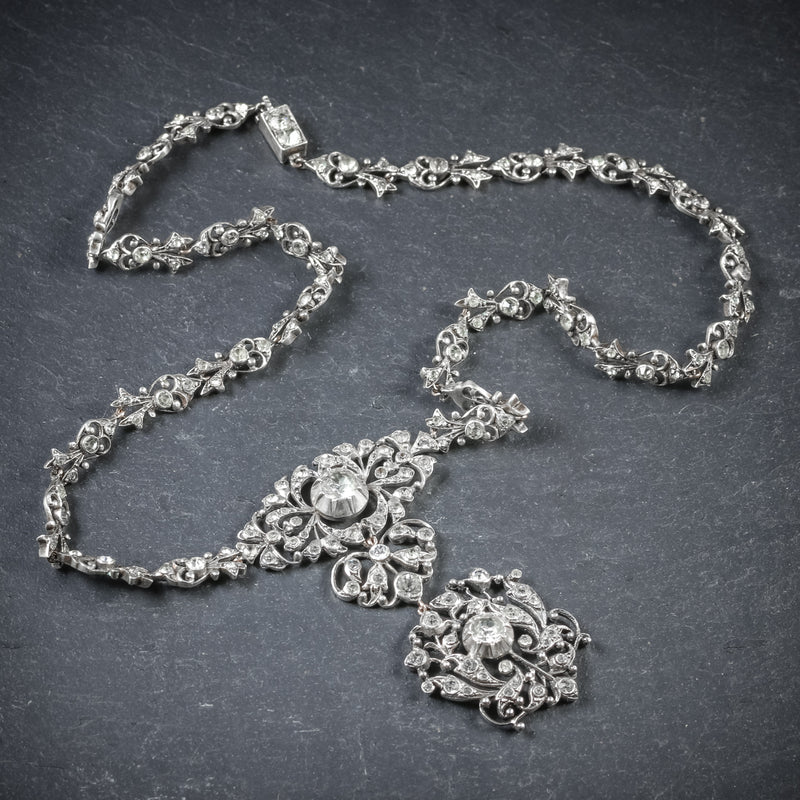 Antique Georgian Silver Paste Necklace Circa 1800 TOP