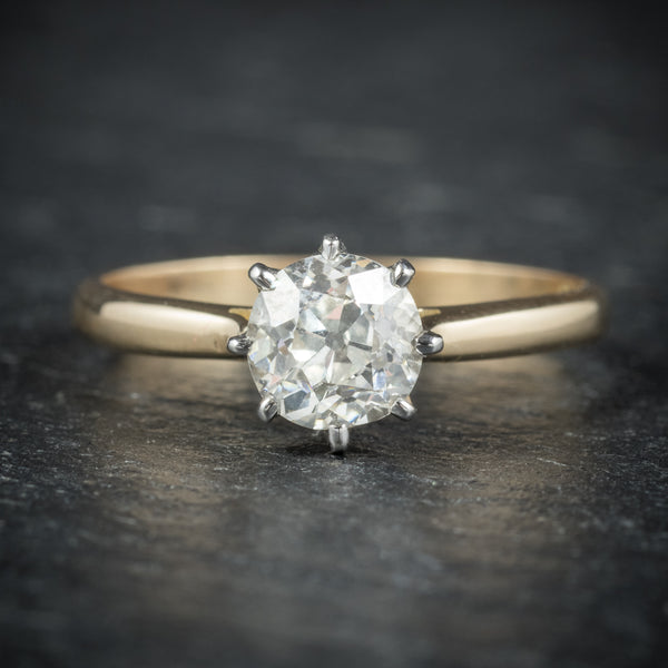 Antique Victorian Diamond Engagement Ring 18ct Gold Circa 1900 front