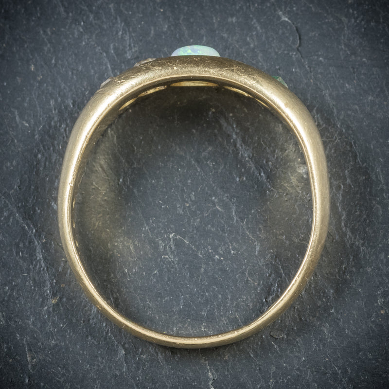 Antique Victorian Opal Ring 18ct Gold Dated Birmingham 1909 top