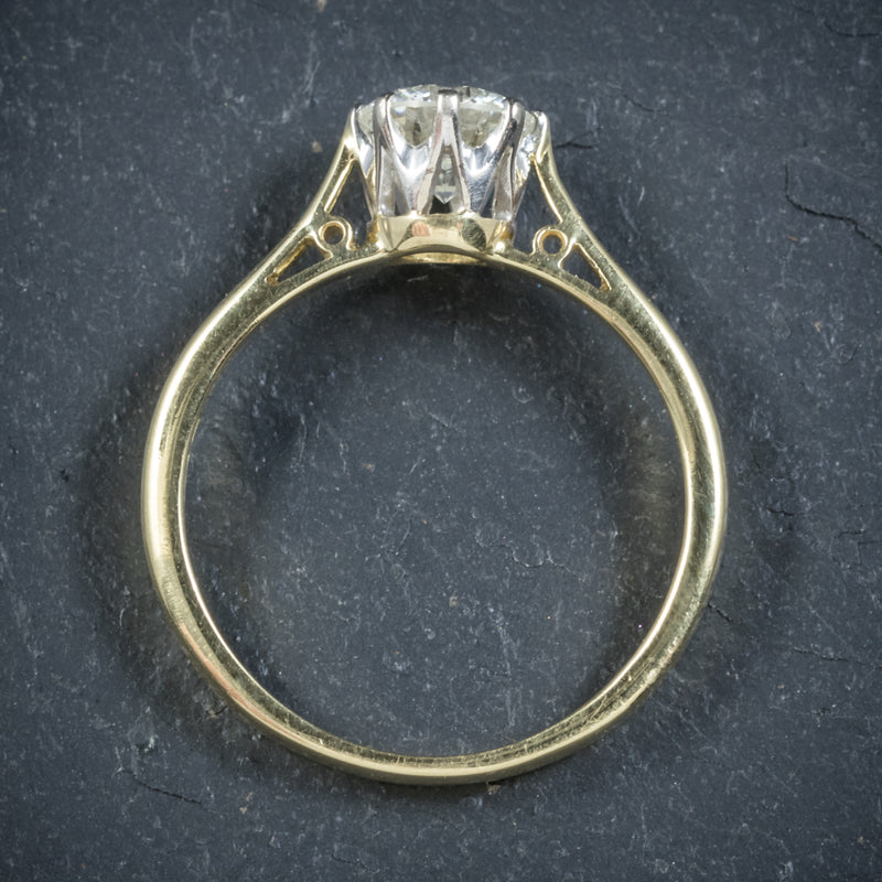Diamond Solitaire Engagement Ring 18ct Gold Dated London 1991 TOP