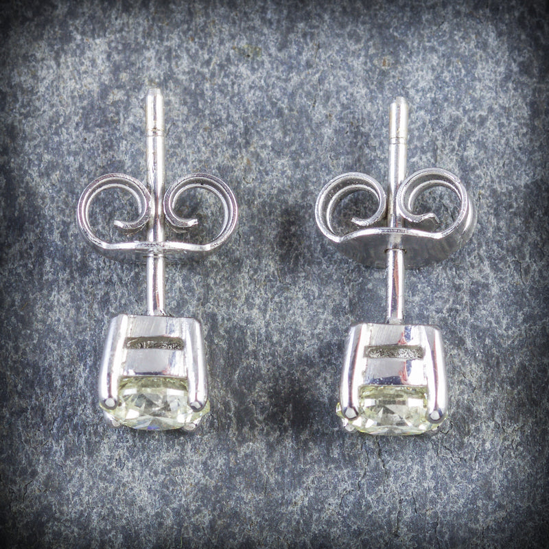 DIAMOND STUD EARRINGS 18CT GOLD 1.20CT DIAMOND POSTS