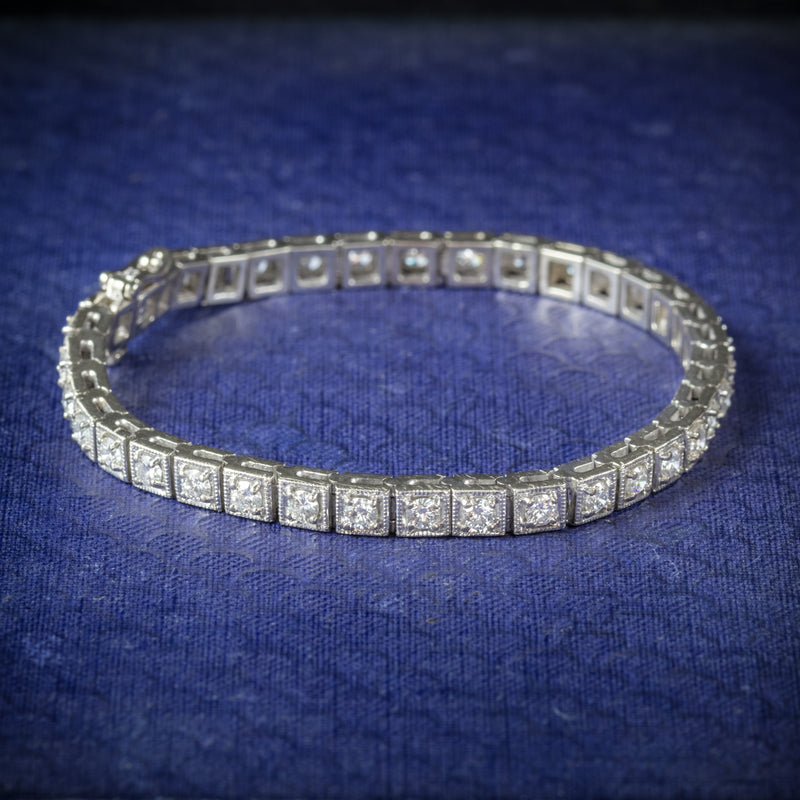 Diamond Line Bracelet 14ct White Gold cover