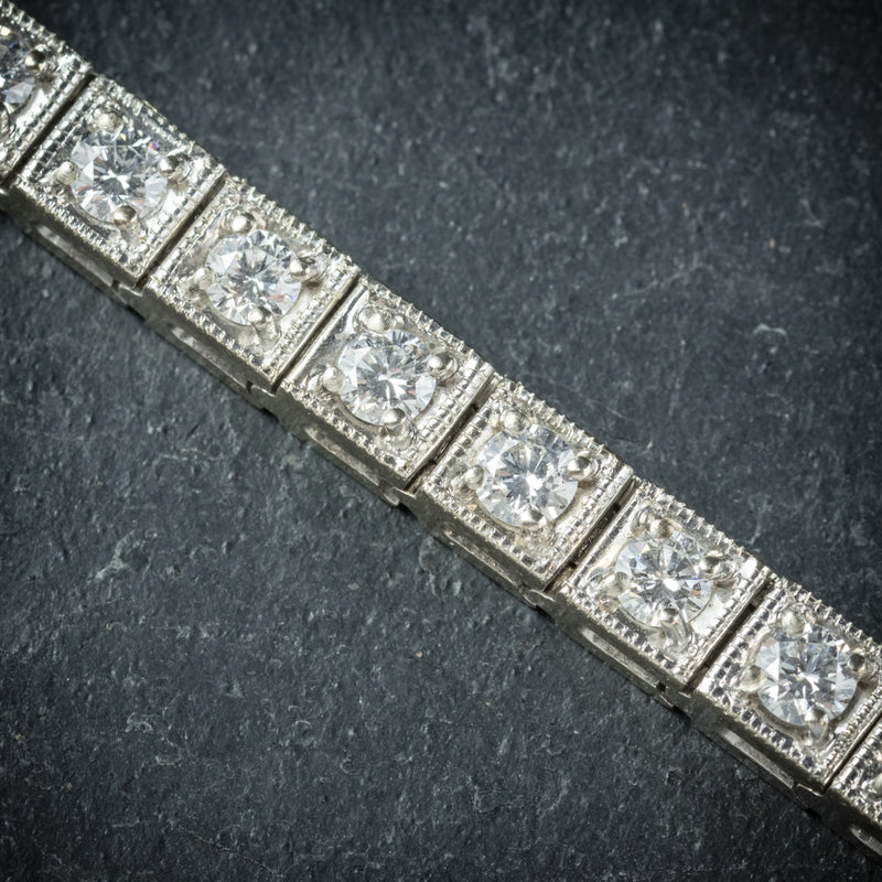 Diamond Line Bracelet 14ct White Gold diamonds