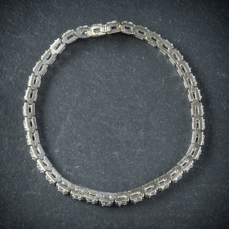 Diamond Line Bracelet 14ct White Gold top