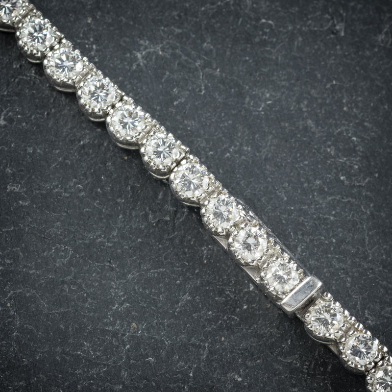 Diamond Necklace 18ct White Gold