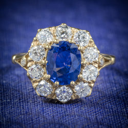 Sapphire Diamond Cluster Ring 18ct Gold  cover