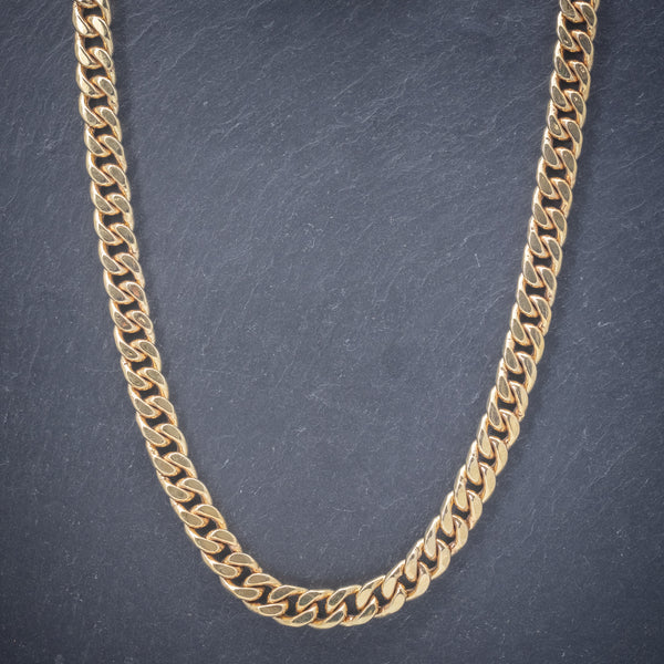 Solid Silver Chain 14ct Yellow Gold Plated Necklace front