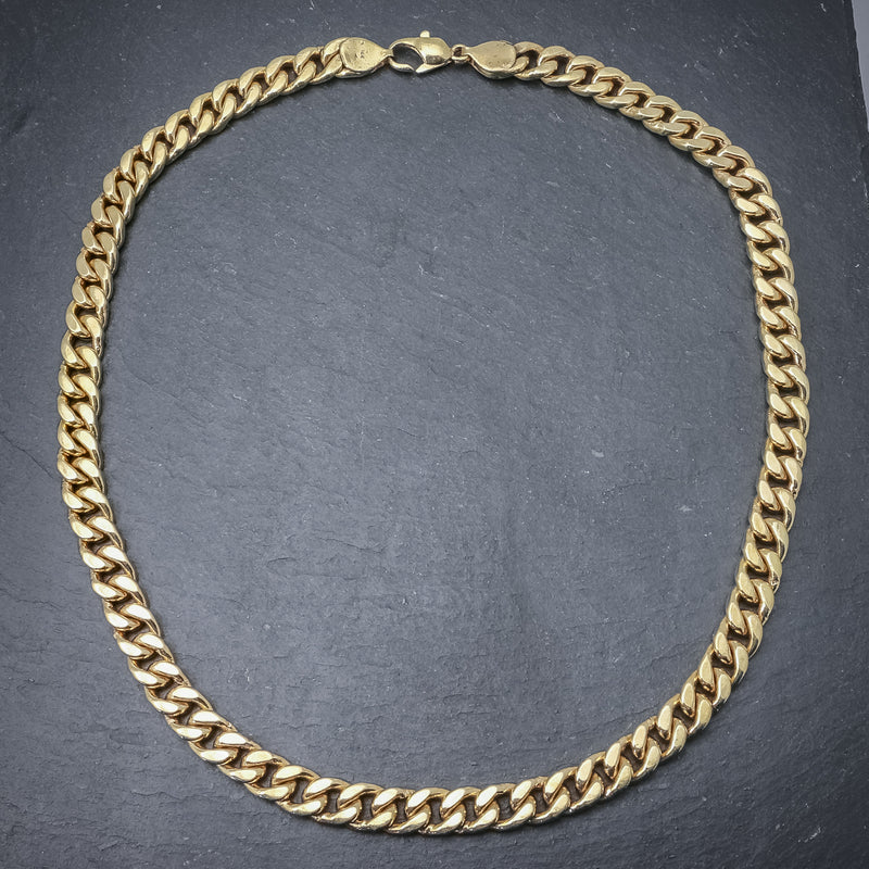 Solid Silver Chain 14ct Yellow Gold Plated Necklace top