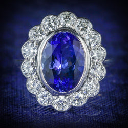 TANZANITE DIAMOND RING 3.80CT TANZANITE 1.50CT DIAMOND COVER