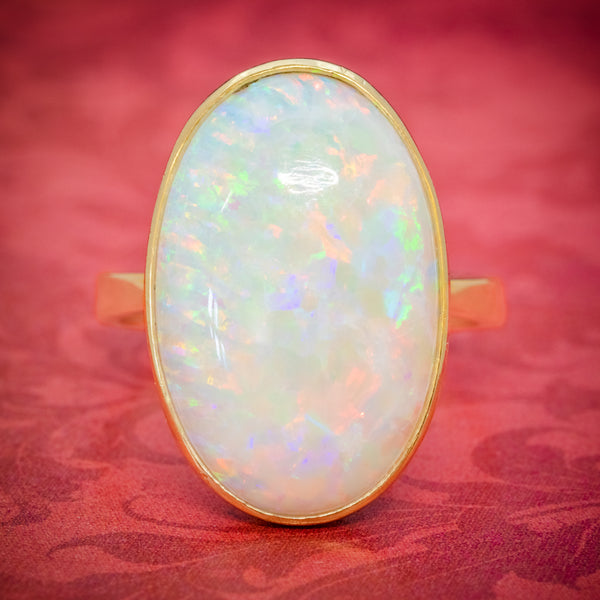 VINTAGE OPAL RING 14ct GOLD NATURAL 14CT OPAL CIRCA 1940 cover