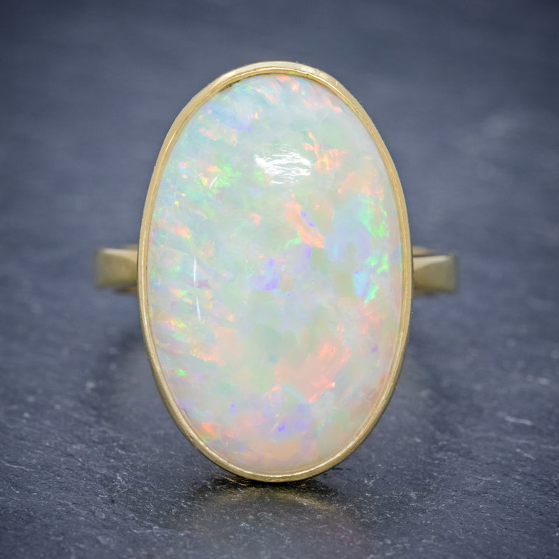 VINTAGE OPAL RING 14ct GOLD NATURAL 14CT OPAL CIRCA 1940 front