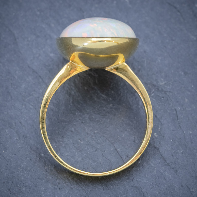 VINTAGE OPAL RING 14ct GOLD NATURAL 14CT OPAL CIRCA 1940 top