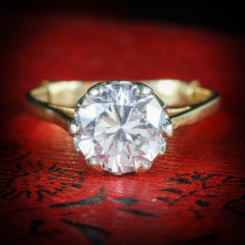 VINTAGE PASTE SOLITAIRE RING 9CT GOLD CIRCA 1960 COVER