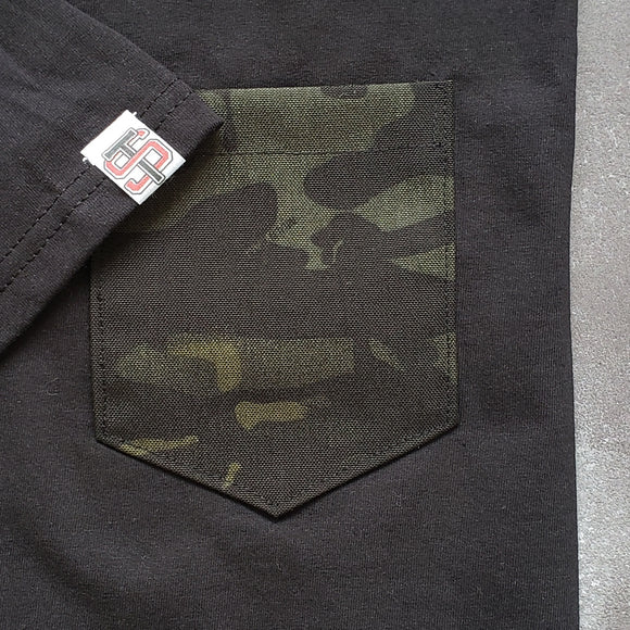 Multicam Black Pocket Tee 'Covert'