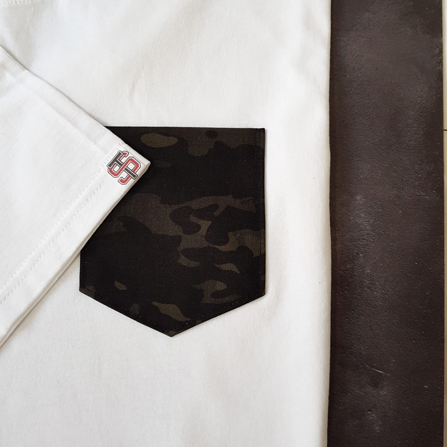 Limited Edition White X Multicam Black Pocket Tee 'Inverse'